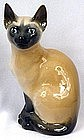 Royal Copenhagen Porcelain Siamese Cat