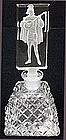 Art Deco Cut Crystal Perfume Bottle