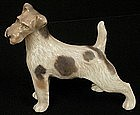 Handsome Royal Copenhagen Porcelain Airedale  Dog