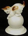 Tiny Rosenthal  Porcelain Kitten Cat on a Ball