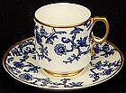 Antique George Jones Demitasse Cup and Saucer