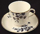 Royal Worcester Japanese Style Tea Cup and Saucer