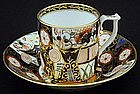 Antique Stevens Hancock Derby Imari Tea Cup and Saucer