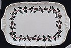 Rare T & V Limoges Holly Berry Tray with Handles