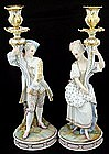 Beautiful French Bisque Figural Candle Holders