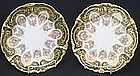 Pair of Fancy Pouyat Limoges Plates