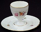 Delicate KPM Egg Cup with Attached Underplate
