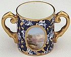 Miniature Coalport Loving Cup with Landscape