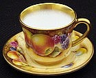 Miniature R. Worcester S. Wood Cup and Saucer