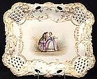 Marvelous A. Lanternier Limoges Reticulated Tray