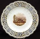 Exquisite Antique Meissen Reticulated Cabinet Plate