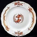 Meissen Red Dragon Dinner Plate