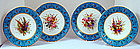 Fabulous Set of 8 Royal Worcester Enameled Plates