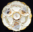 Ahrenfeldt Limoges Oyster Plate with Sea Life