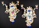Fabulous Pair of Royal Vienna Wall Sconces