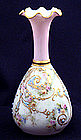 Charming American Belleek Jeweled Cabinet Vase