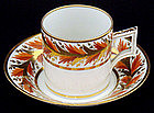 Handsome Antique Derby Cup & Saucer