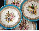 Gorgeous Royal Worcester Cabinet Plates C.1883