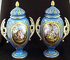 Magnificent Pair of Paris Porcelain Covered Vases