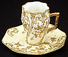 Elegant Antique Limoges Chocolate Cup & Saucer