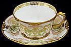 Lovely Art Nouveau Pouyat Limoges Tea Cup & Saucer