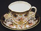 Elegant Royal Crown Derby Tea Cup & Saucer