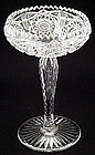 American Brilliant Cut Crystal Compote