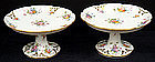 Paris Porcelain Pair of Dessert Stands or Compotes