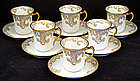 6 Elegant Haviland Limoges Chocolate Cups & Saucers