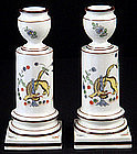 Pair Meissen Kakiemon Yellow Dragon Candlesticks