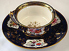 Antique Davenport Cobalt Tea Cup & Saucer