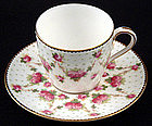 Dainty Doulton Demitasse with Rose Buds