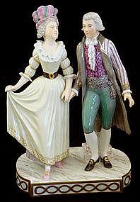 Rare Royal Copenhagen Figural Group 19th Century