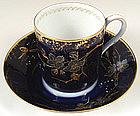 Rare Antique Kouznetsoff Russian Demitasse Cup & Saucer