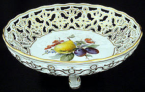 Elegant Meissen Bowl with Dolphin Feet