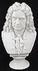 Antique Parian Bust of Famous Composer Handel