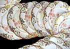 12 Delicate Antique Minton Reticulated Plates