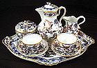 Meissen Tea for Two on Tray, Imari Pattern