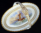 Antique Nautical English Porcelain Basket