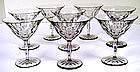 8 Orrefors Swedish Cut Crystal Glasses
