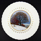 Art Nouveau KPM Scenic Plate �Winter�