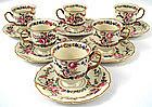 6 Elegant Rosenthal Demitasse Cups & Saucers