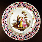 Rare 18th C. Limbach Cabinet Plate