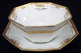 Beautiful Pickard Pudding Bowl, Dessert Set