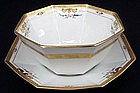 Beautiful Pickard Pudding Bowl, Dessert Set