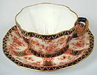 Elegant Antique Royal Crown Derby Tea Cup & Saucer