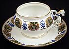 Antique Russian Kornilov Figural Tea Cup & Saucer