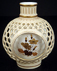 Antique Royal Rudolstadt Double Walled Vase