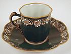 Art Nouveau Tharaud Limoges Demitasse Cup & Saucer
