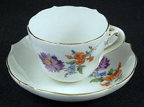 Lovely Meissen Demitasse Cup & Saucer